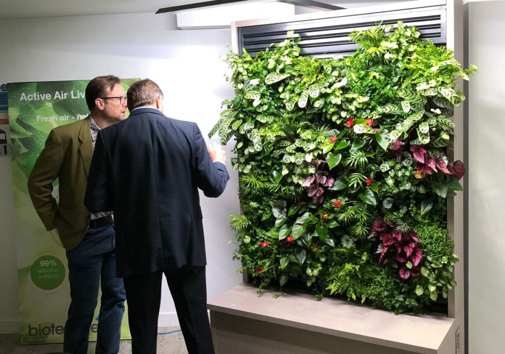 Biotecture Active Airflow Living Wall System
