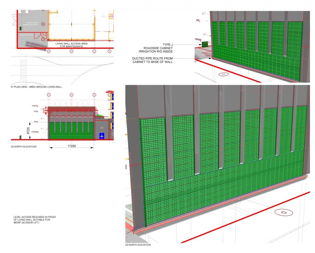 Example of Living Wall Construction Drawings