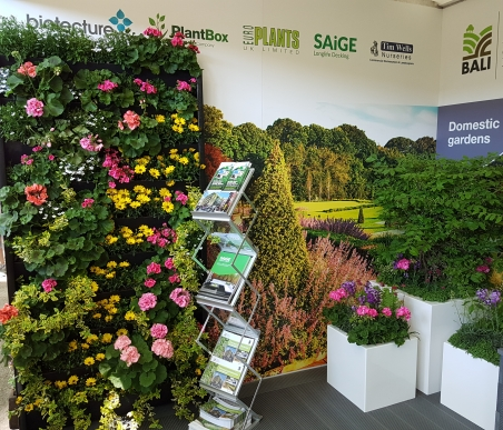 Chelsea Flower show Green wall on the BALI stand