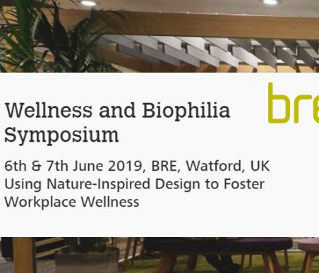 BRE Biophilic Office Project Wellness and Biophilia Symposium event banner
